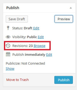 Revisions are older versions of your post you can rescue.