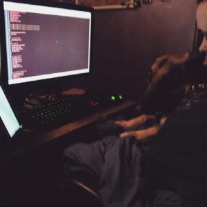 Bonus: paw programming with my dog.