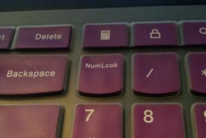 Misprint on my laptop keyboard membrane.