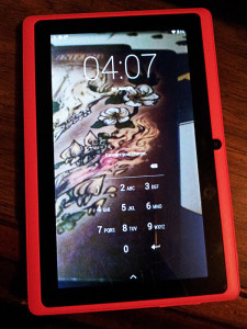 Tablet. Bright pink, yup.