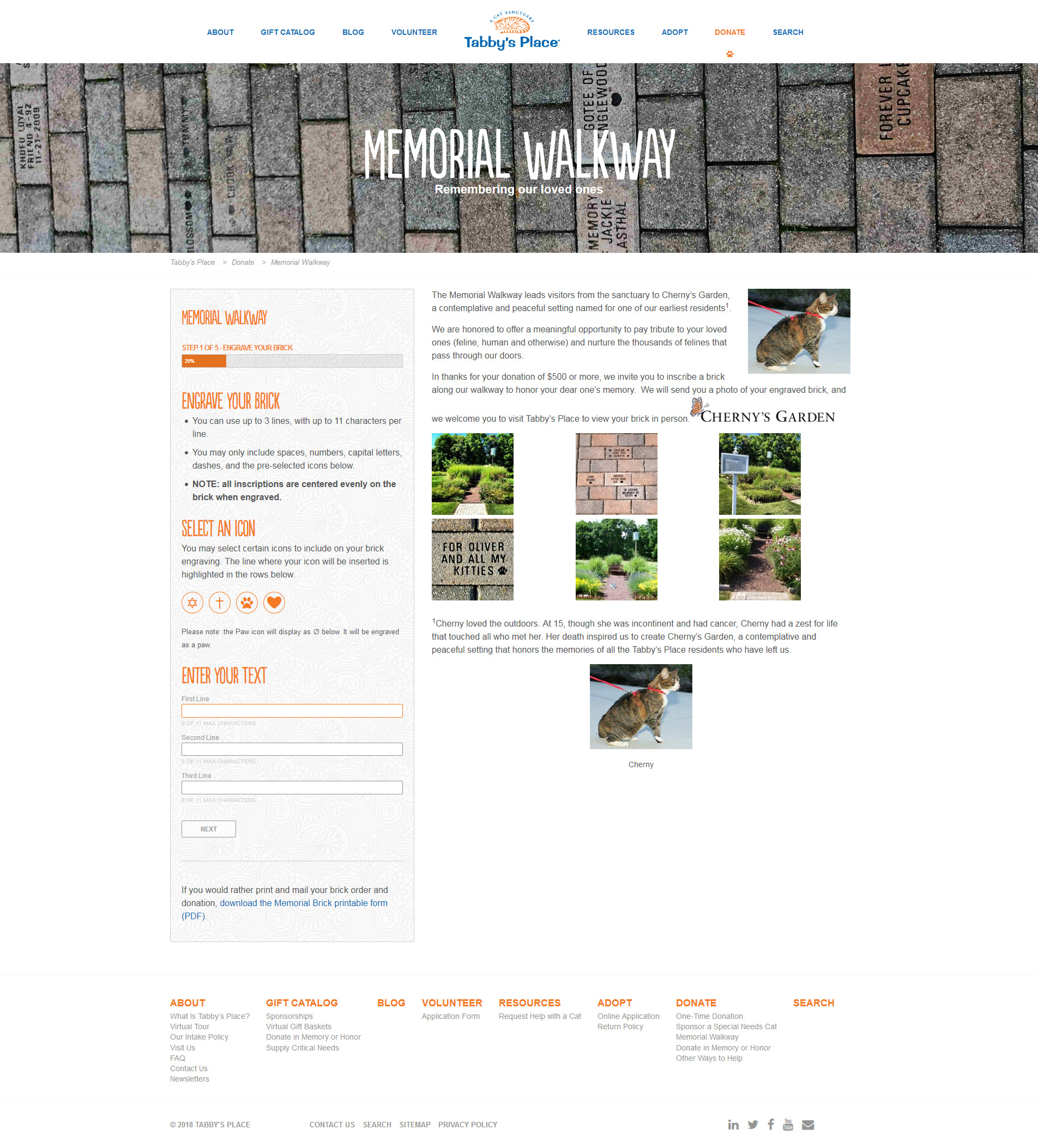 The Memorial Walkway, a custom form with some custom icon insertion functionality.